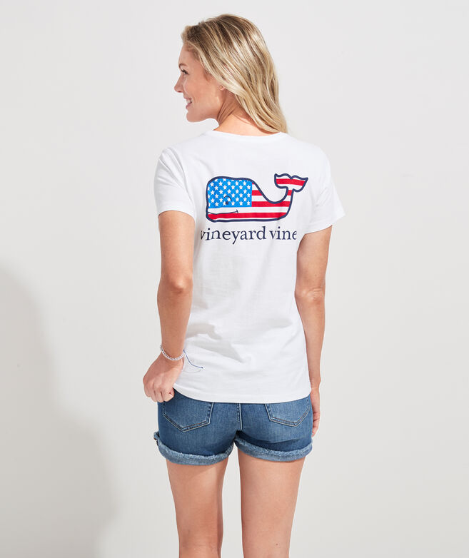 Flag Whale Pocket Tee