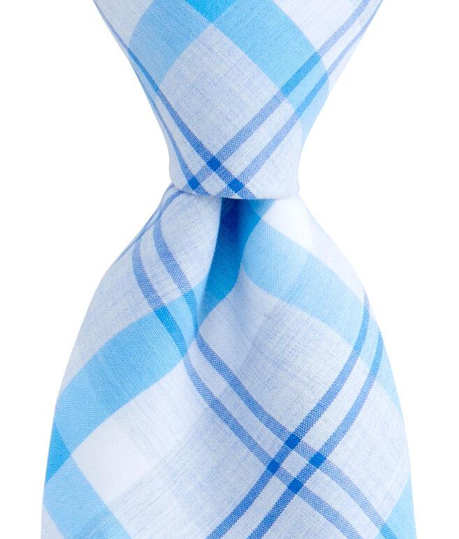 Stony Bay Plaid Woven Tie
