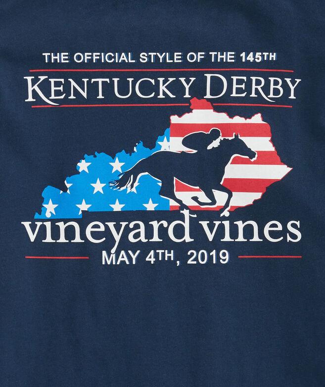 Kids Kentucky Derby Derby Flag Pocket T-Shirt