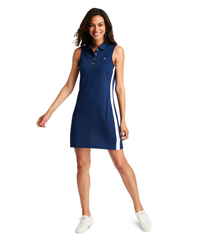 Sleeveless Pique Polo Dress