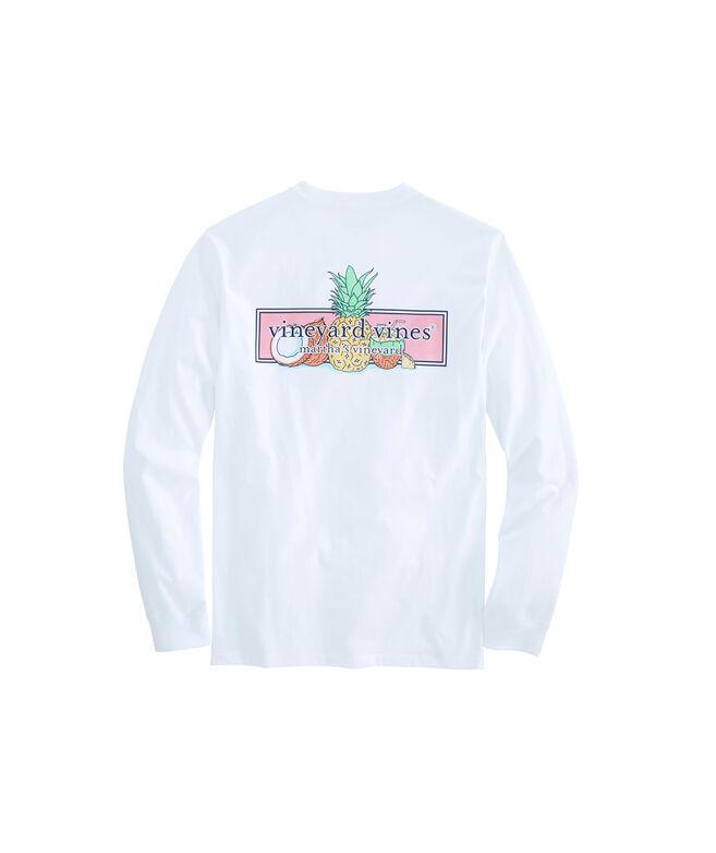 Long-Sleeve Bahama Mama Box Pocket T-Shirt