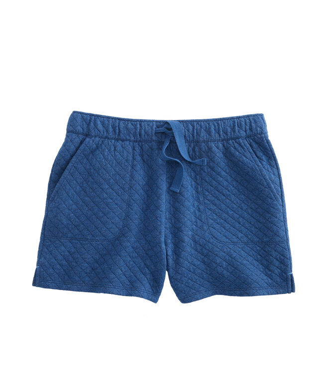 Girls Diamond Quilted Utility Pull-On Shorts