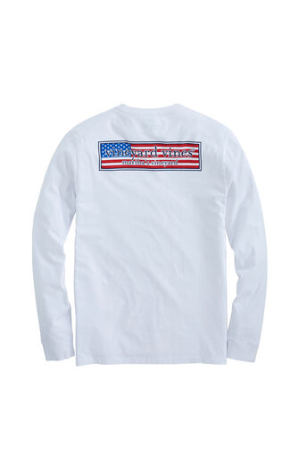 dba0fa2a90ba86 Long-Sleeve Patriot Box Pocket T-Shirt