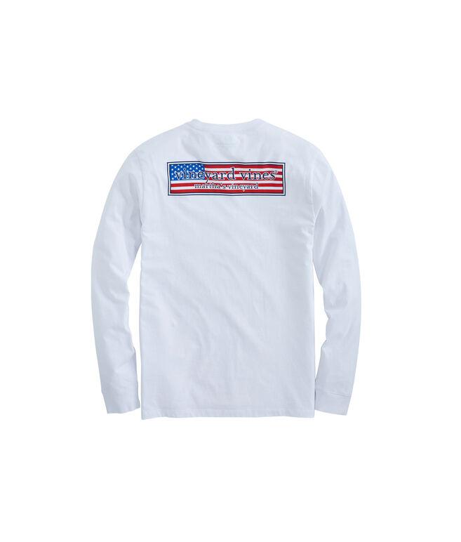 Long-Sleeve Patriot Box Pocket T-Shirt