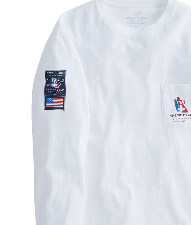 America's Cup Long-Sleeve Ring Of Flags Pocket T-Shirt