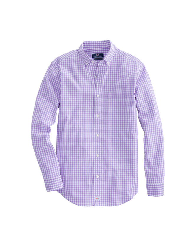 Classic Fit Carleton Gingham Stretch Murray Shirt