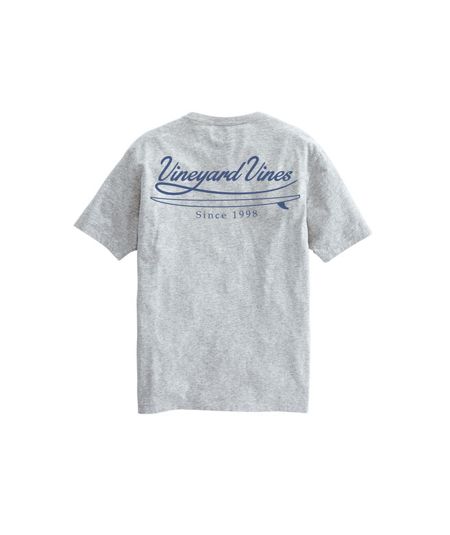 Vineyard Surf Script Short-Sleeve Pocket Tee