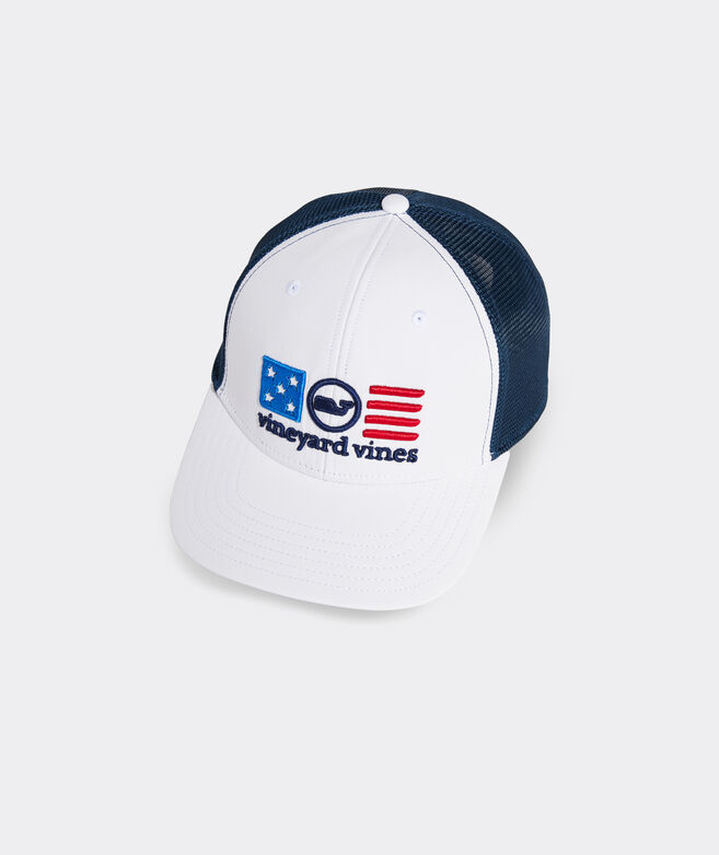 USA Whale Dot Performance Trucker Hat