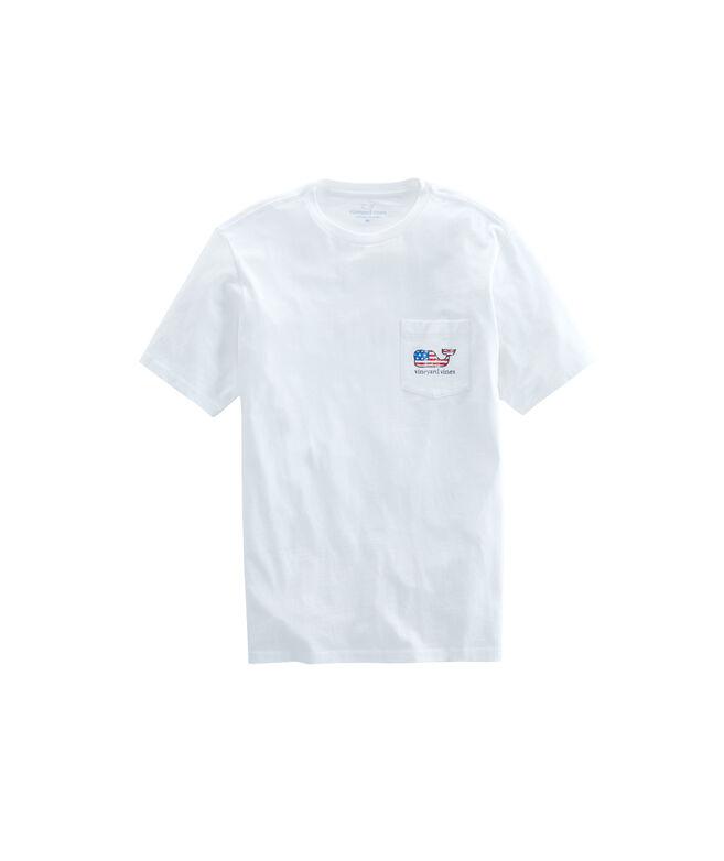 Flag Whale Pocket T-Shirt
