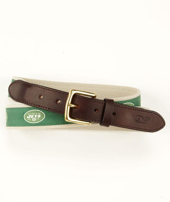 New York Jets Canvas Club Belt
