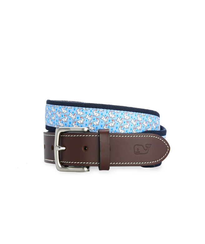 Easter Bunny Canvas Club Belt