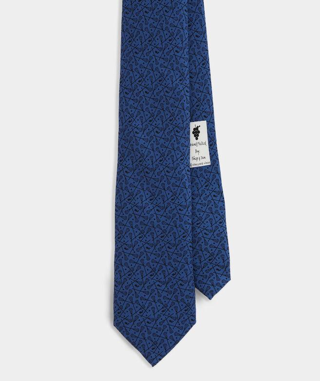 Scattered Lacrosse Printed Tie