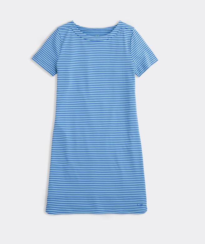 Girls' Short-Sleeve Stripe Sankaty Dress
