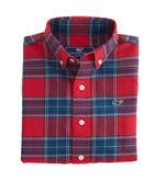 Boys Caroler Plaid Flannel Whale Shirt
