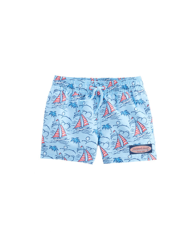 Baby Boy Sailboat Chappy Trunks (3-24)
