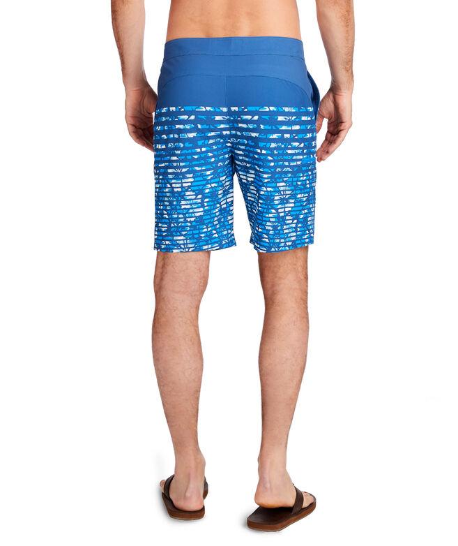 Floral Camo Stripe Stretch Board Shorts