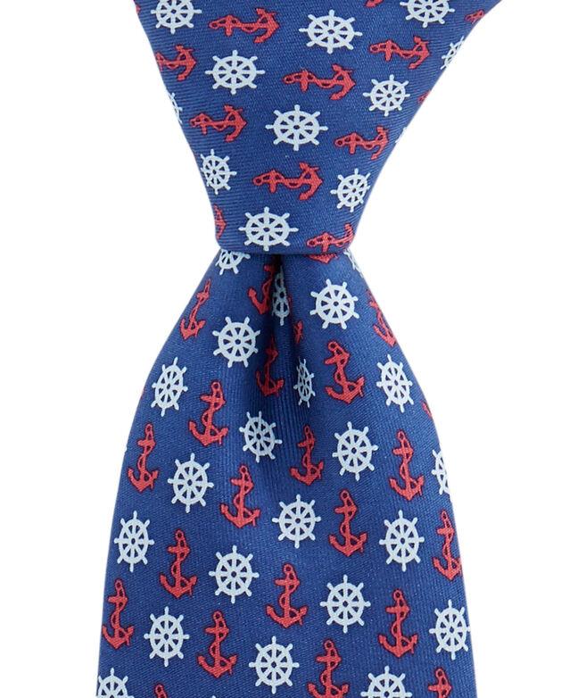 Boys Anchors & Helm Tie