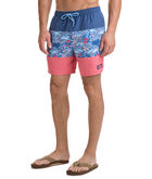 Tuna In Coral Pieced Chappy Trunks