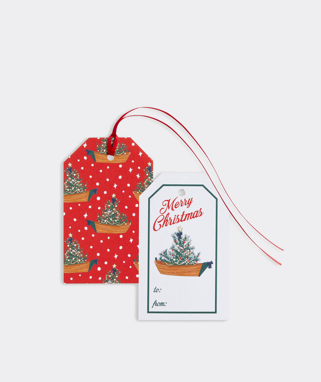 Tree In Boat Gift Tags