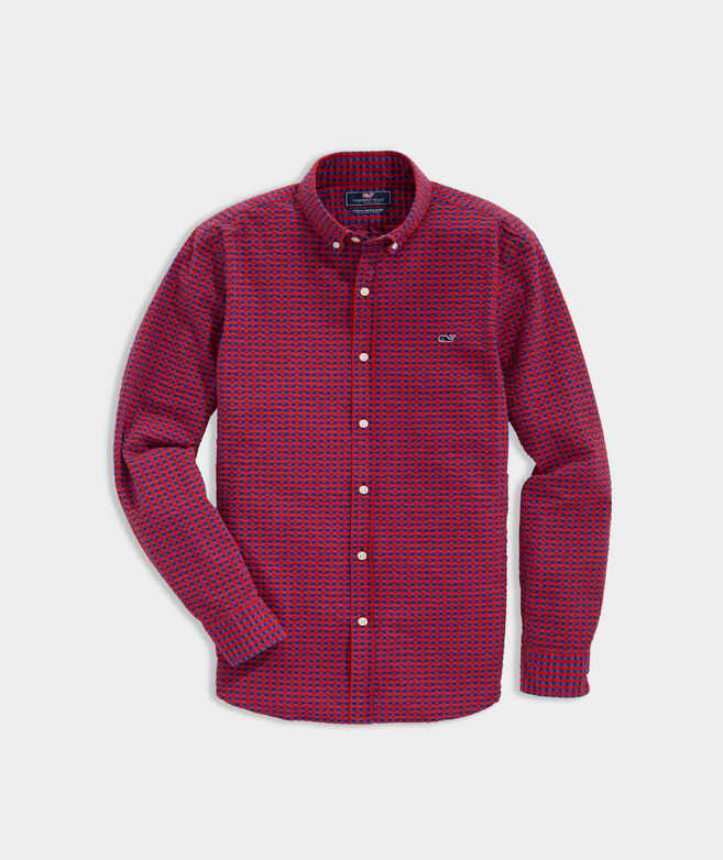 Slim Fit Marsh Seersucker Whale Button-Down Shirt