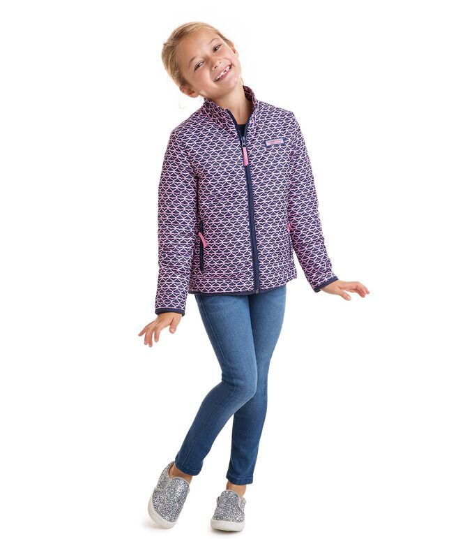 Girls Printed Whale Tail Mountain Weekend Jacket
