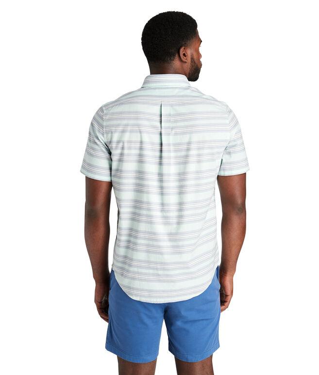 Short-Sleeve Marina Stripe Slim Murray Shirt