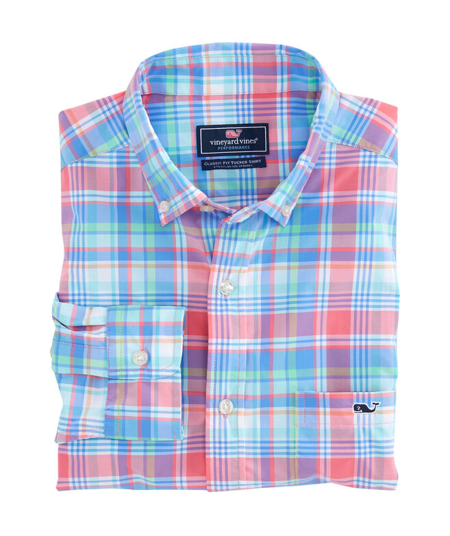 Bridgehampton Plaid Performance Classic Tucker Shirt