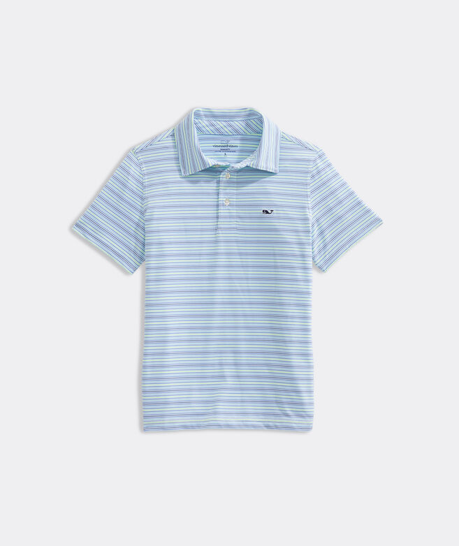 Boys' Pointe Stripe Sankaty Polo