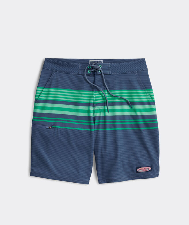 9 Inch Striped Board Shorts