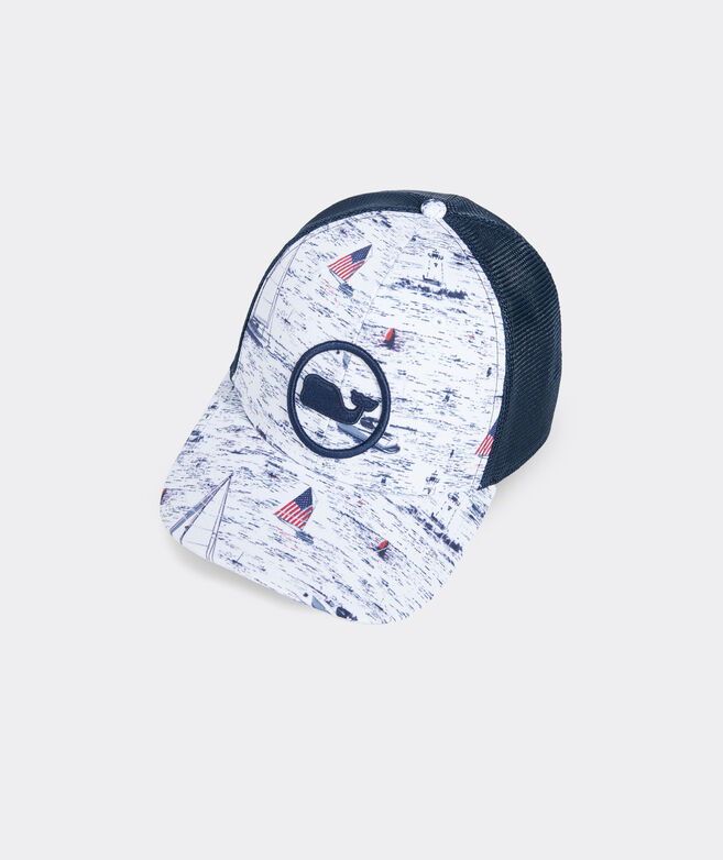 Smiling Whale Whale Dot Trucker Hat