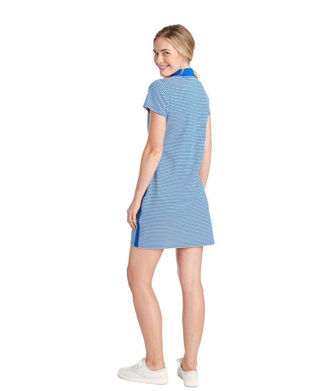 Feeder Stripe Polo Dress