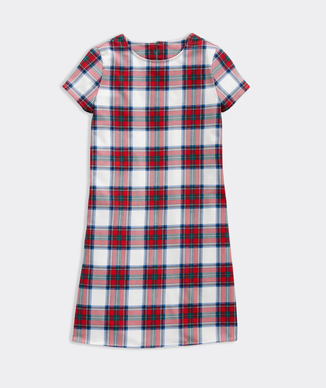 Girls' Nantucket Tartan Knit Dress