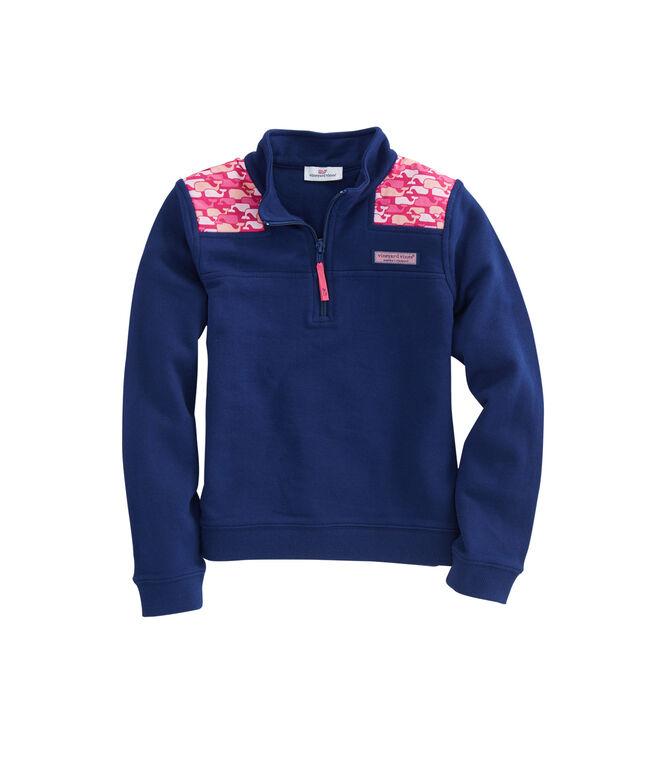 Girls Whale Outline Shoulder Shep Shirt