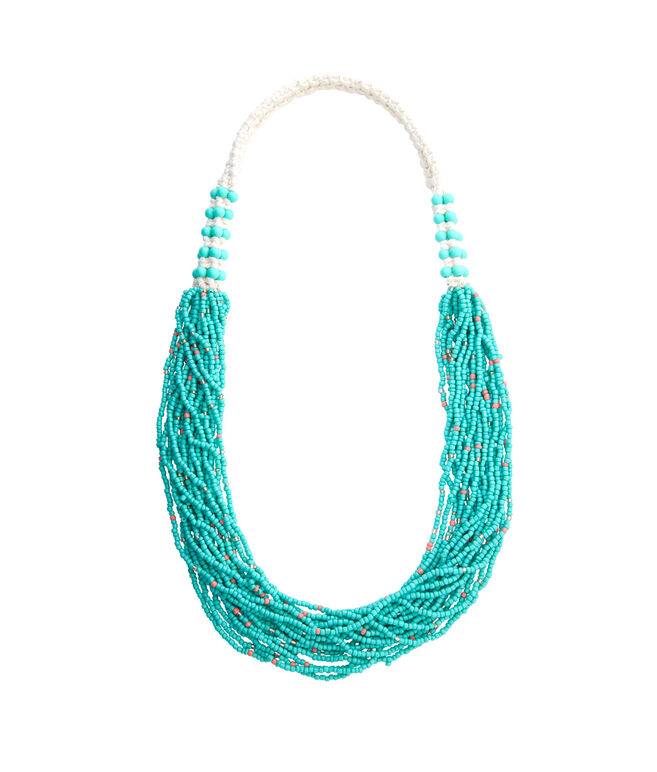 shop braided seed bead necklace at vineyard vines