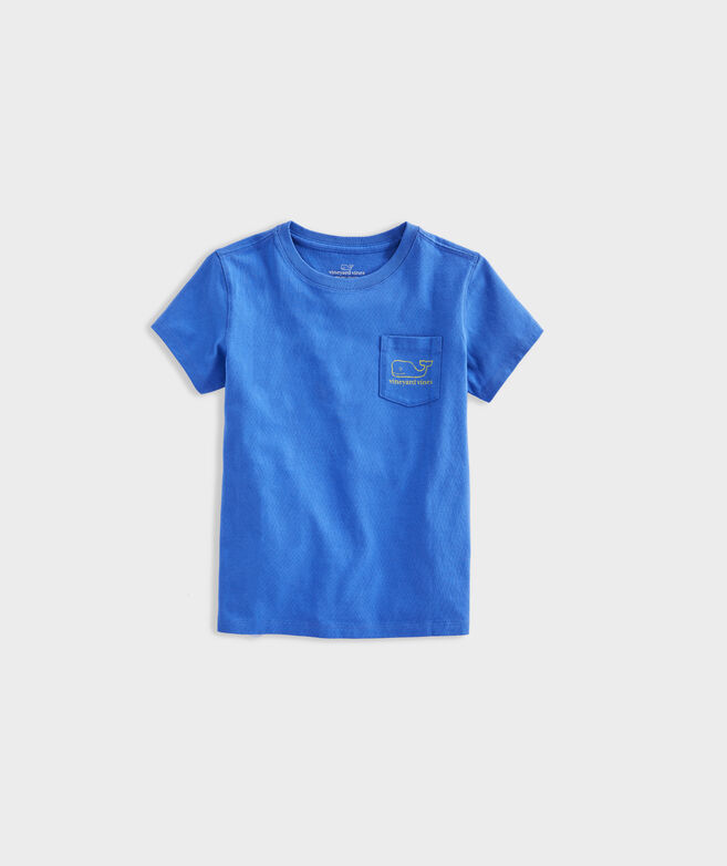 Girls' Garment Dyed Vintage Whale Short-Sleeve Pocket Tee