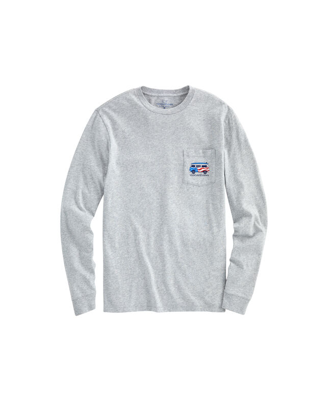 Big & Tall USA Bus & Board Long-Sleeve T-Shirt