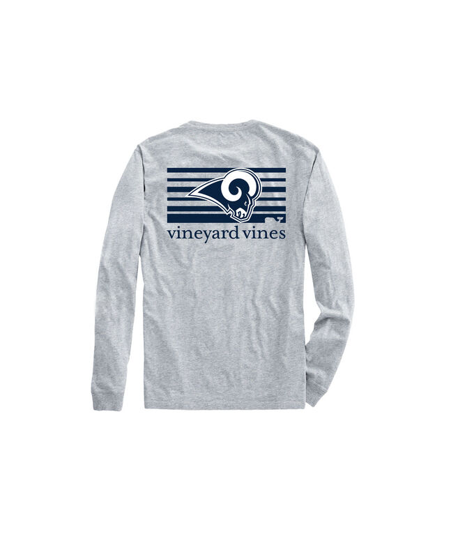 Adult Rams Long-Sleeve Block Stripe T-Shirt