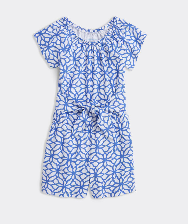 Girls' Day Lily Tie Front Romper