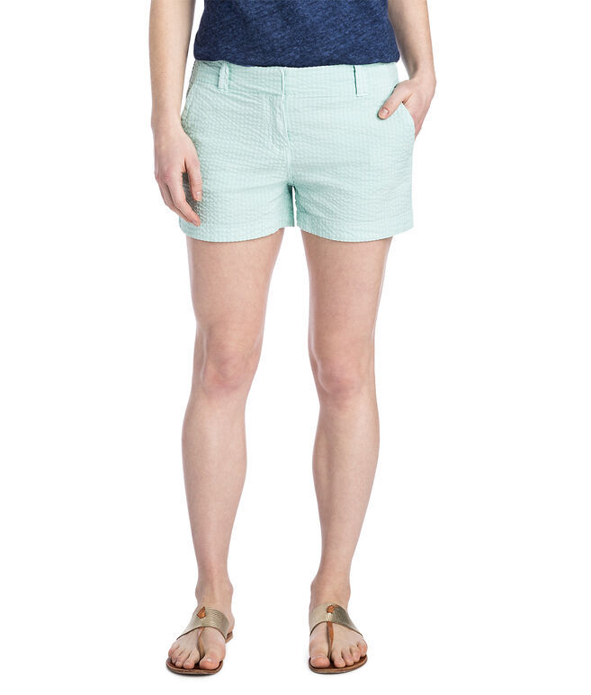 3 1/2 Inch Seersucker Every Day Shorts