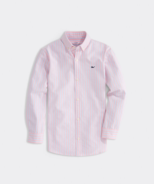 Boys' Oxford Performance Whale Shirt