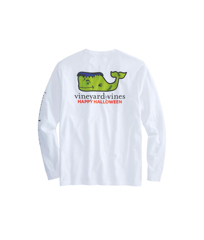Long-Sleeve Frankenstein Whale Pocket T-Shirt