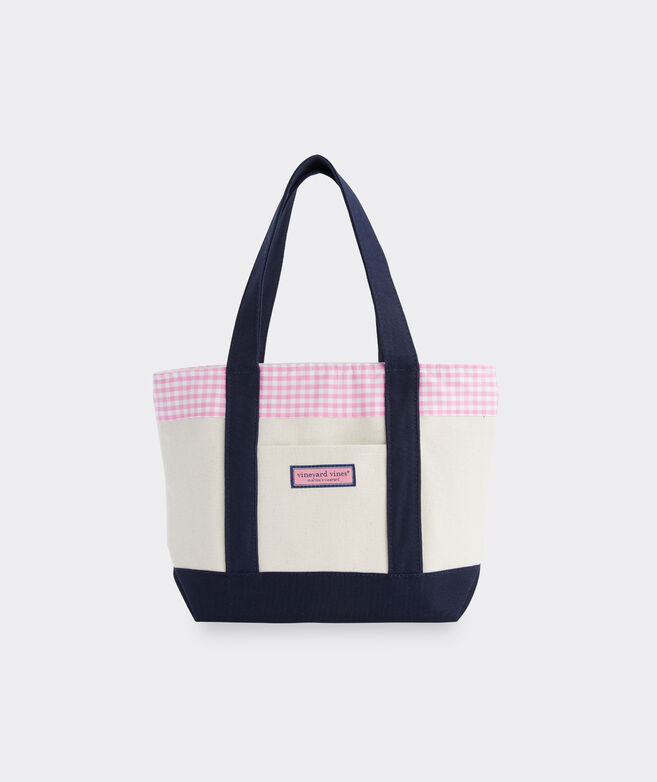 Palm Beach Gingham Mini Tote
