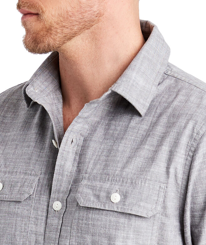Sea Breeze Solid Slim Dockman Shirt