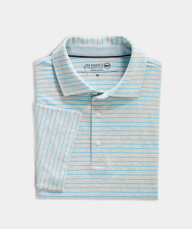 Heathered Cypress Stripe Polo