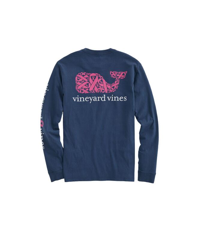 2019 Breast Cancer Awareness Ribbons Long-Sleeve Pocket T-Shirt