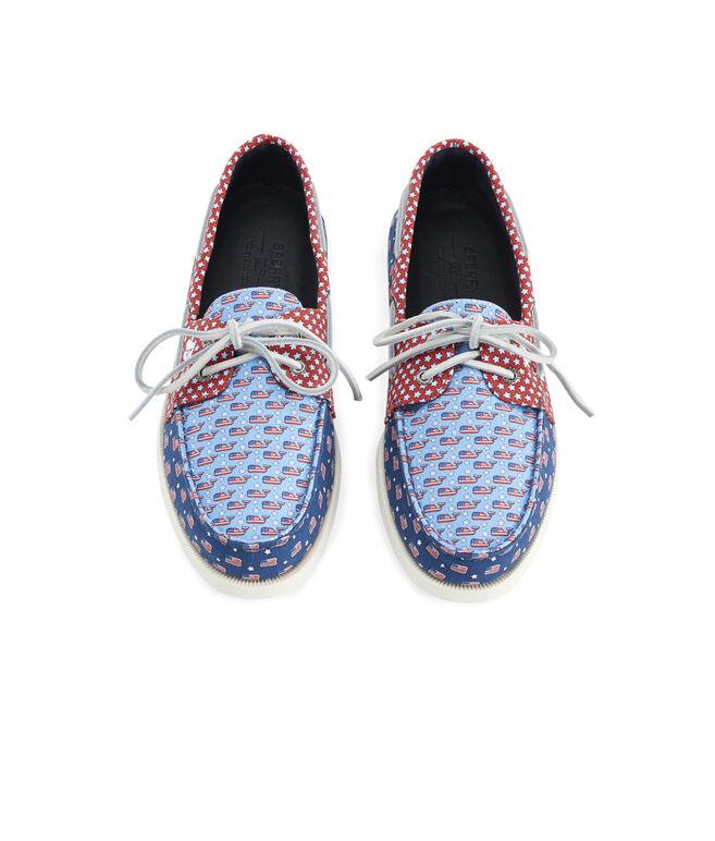 Mens Sperry x vineyard vines Americana Patchwork Authentic Original Boat Shoe