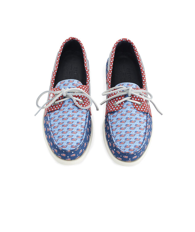 Mens Sperry x vineyard vines Americana Patchwork Authentic Original Boat Shoe