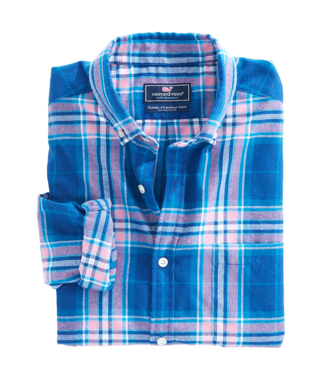 Point Lobos Plaid Performance Flannel Classic Murray Shirt
