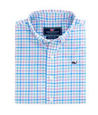 Boys Orchid Check Performance Whale Shirt