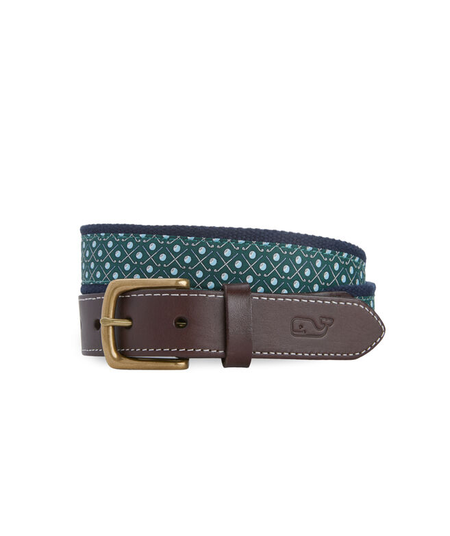 Golf Icon Canvas Club Belt